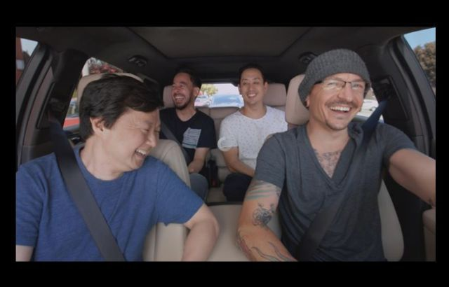 Apple acaba de publicar una versión de Carpool Karaoke con Chester. Fué grabado justo una semana antes de su muerte.